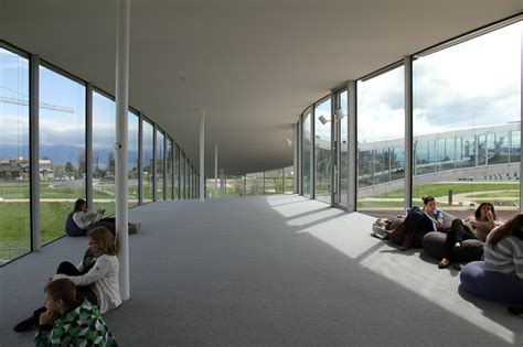 Japanese Interior Architecture rolex learning center designed by sanaa in lausanne