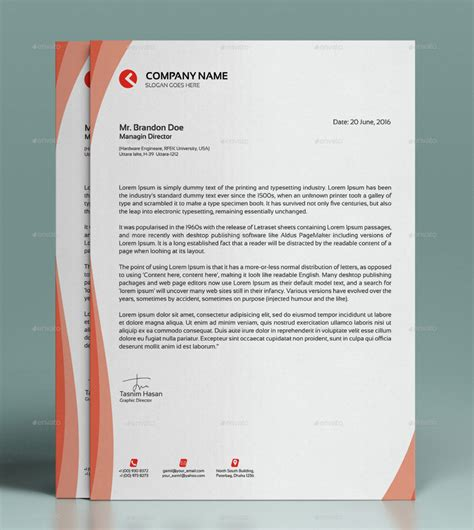 5 free personal letterhead templates shrewd investment