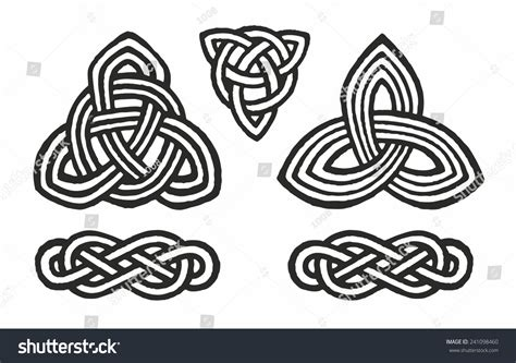 medieval celtic knot tattoo ornament stock vector