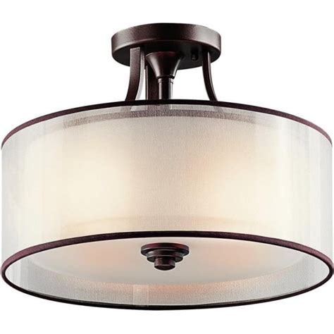 Flush Fitting Ceiling Lights Uk Semi Flush Fitting Traditional Low Ceiling Bronze Fitting Light