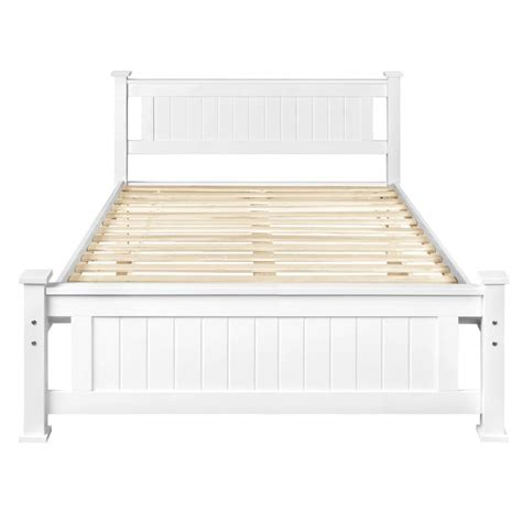 Solid Pine Bed Frame Size Solid Pine Wooden Bed Frame In White Buy Sale