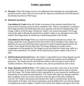 Event Terms And Conditions Template by Sle Vendor Contract Template 9 Free Sles