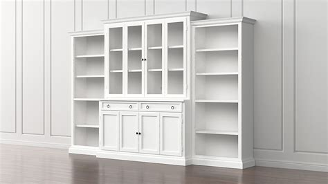wall bookcases with doors cameo 4 white glass door wall unit w open bookcases