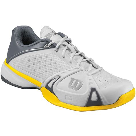 wilson tennis shoes wilson pro s tennis shoes white grey yellow
