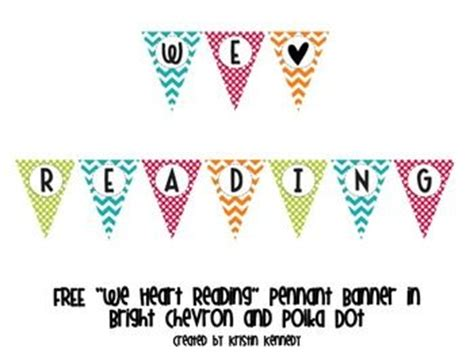 printable reading banner brighten up your classroom with this adorable quot we heart