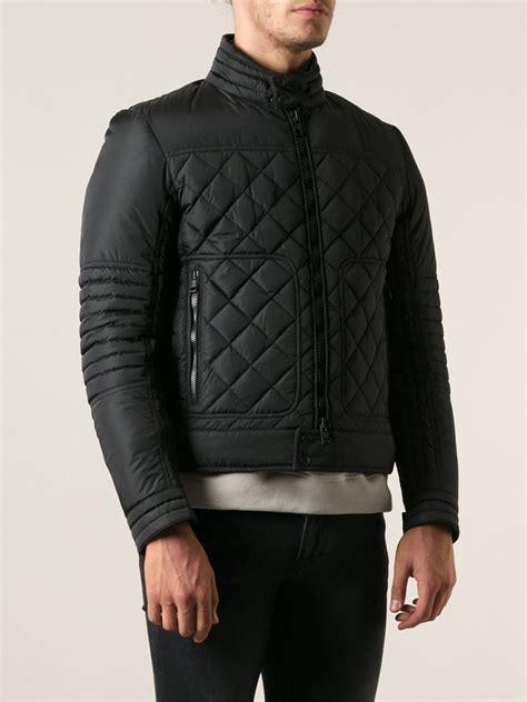 Padded Biker Jacket moncler freddie padded biker jacket in black for lyst