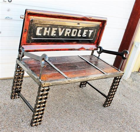bench made from truck tailgate tailgate benches recycled salvage www recycledsalvage com