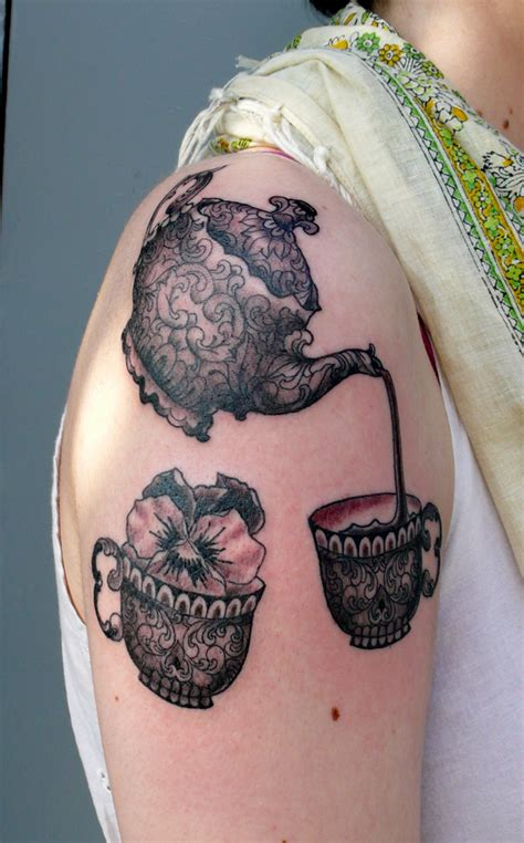 teapot tattoo designs teapot and teacup arm jpg