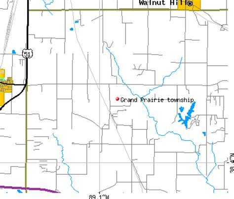 grand il map grand prairie township jefferson county illinois il