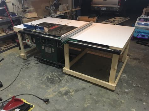 woodworkers forum new table saw outfeed table woodworking talk