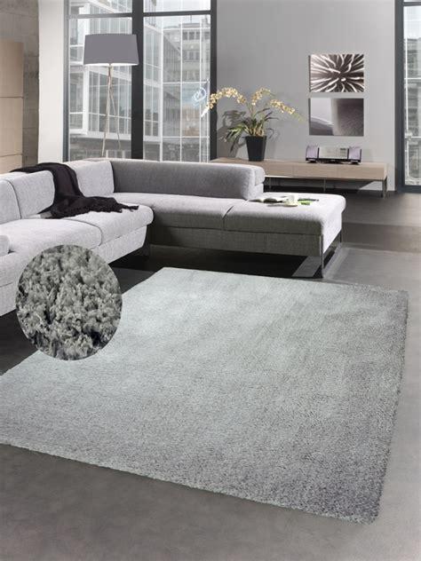 bettvorleger grau shaggy soft teppich hochflorteppich weich bettvorleger uni