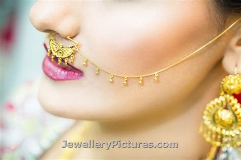 Wedding Nose Ring Design by Nathni Designs Bridal Nose Ring Jewellery Designs