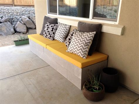 cinderblock bench hello daly mini patio project cinder block bench