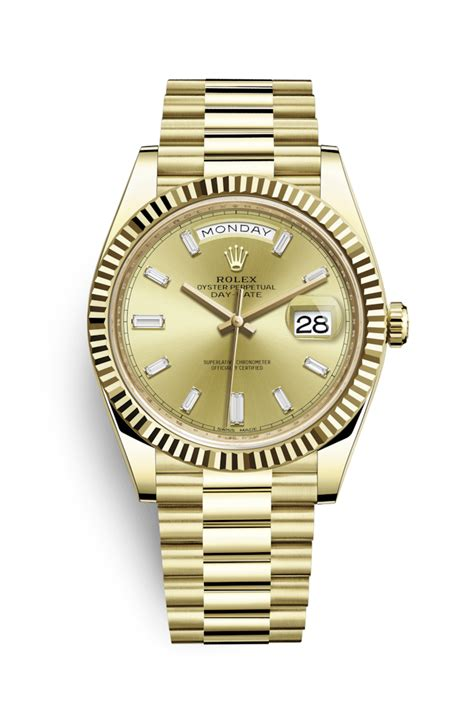 Jam Tangan Rolex 0005 rolex day date 40 18 ct yellow gold 228238