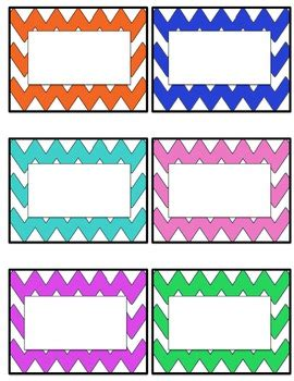 Student Name Labels Template
