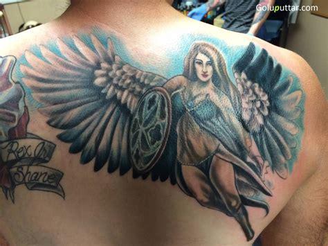angel tattoos on back back tattoos