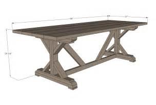 Farmhouse Dining Table Plans White Fancy X Farmhouse Table Diy Projects