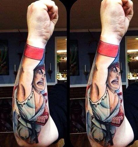 street fighter arm tattoo fist tattoos pinterest arm