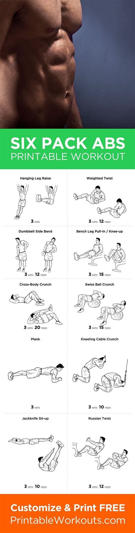 six pack abs gain or weight loss these workout plan is great for fitnes