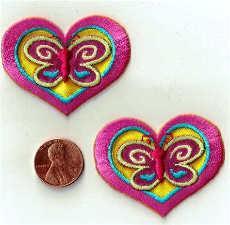 applique iron on hearts butterfly iron on applique sewing fabric