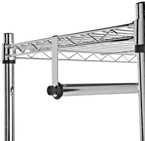 garment rack with shelves hanging rod