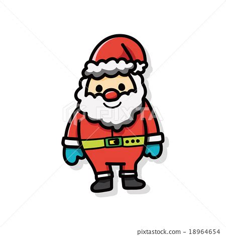 santa on doodle santa claus doodle stock illustration 18964654 pixta