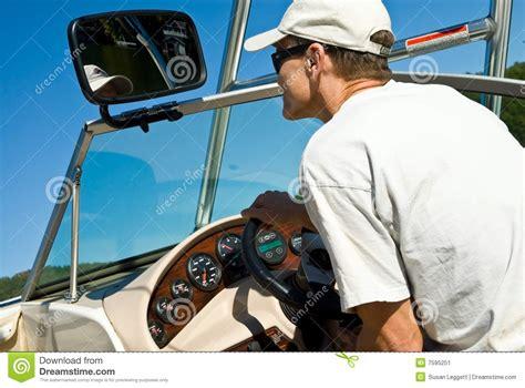 boat driving man man driving ski boat stock image image 7595251