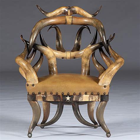 Horn Furniture by 496 Wenzel Friedrich Texan Steer Horn Chair Lot 496