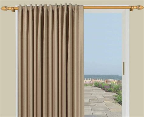 single panel curtain for sliding glass door homespun insulated linen lined innerlined back tab patio