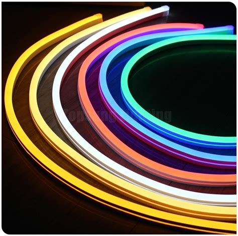 led neon flex light 2018 50m spool 12v ultra thin led neon light flex rope lights slim smd neonflex 11x18mm multi