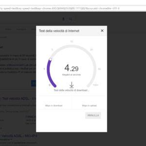 speed test di calcolare velocit 224 fibra e adsl