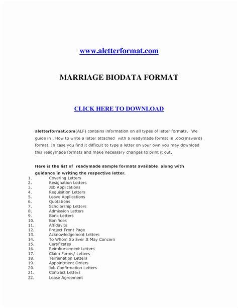 marriage biodata format in word file free download marriage resume format word file awesome marriage biodata
