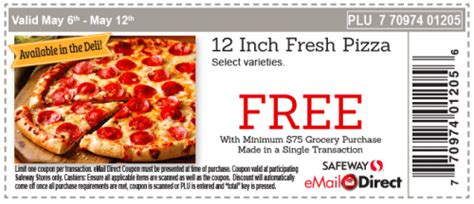free printable grocery coupons safeway safeway canada new weekly coupon get a free pizza with a