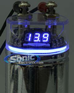 stinger capacitor review stinger spc122 spc122 1 farad 16v 20v chrome capacitor w blue display