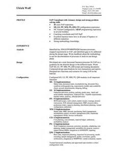 Sap Consultant Sle Resume by 10 Consultant Resume Templates Free Word Pdf Sles