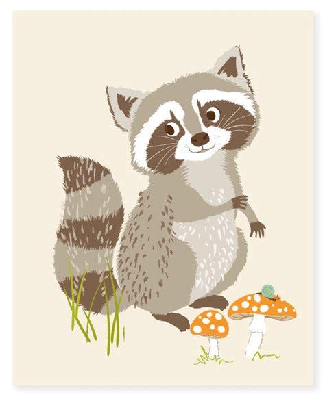 kinderzimmer waldtiere malen raccoon wall woodland for nursery wall