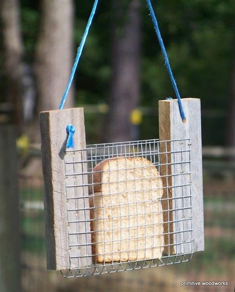 bread or toast bird feeder primitive rustic reclaimed