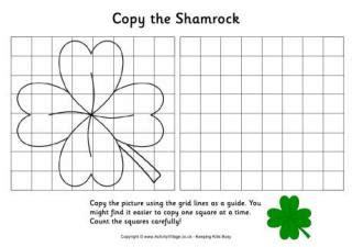 printable graph paper activity village shamrock printables