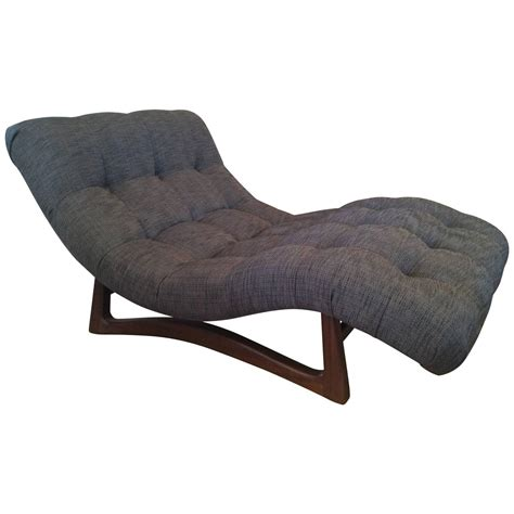 curved chaise lounge vintage adrian pearsall curved chaise lounge with walnut