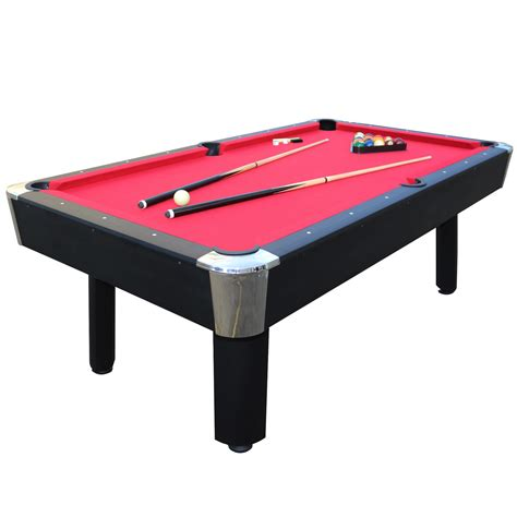 pool table sportcraft 7 red billiard table w table tennis top