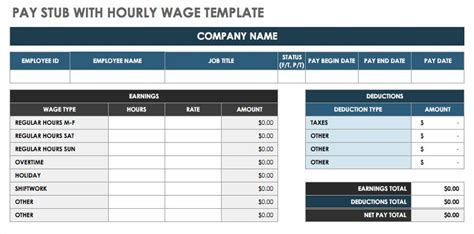 pay stub template 17 free samples examples formats