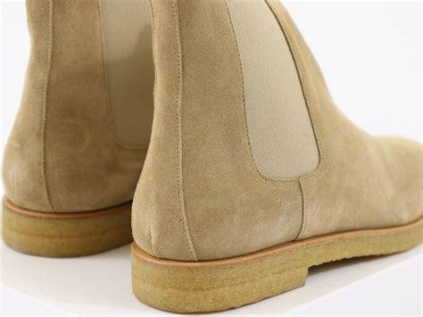 light tan chelsea boots mens handmade men crepe sole boot men light beige color boot