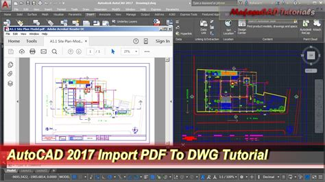 tutorial autocad map pdf new feature open pdf file in autocad 2017 tips trick