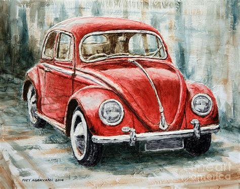 volkswagen painting 1960 volkswagen beetle 2 painting by joey agbayani