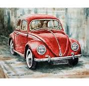 1960 Volkswagen Beetle 2 Painting By Joey Agbayani