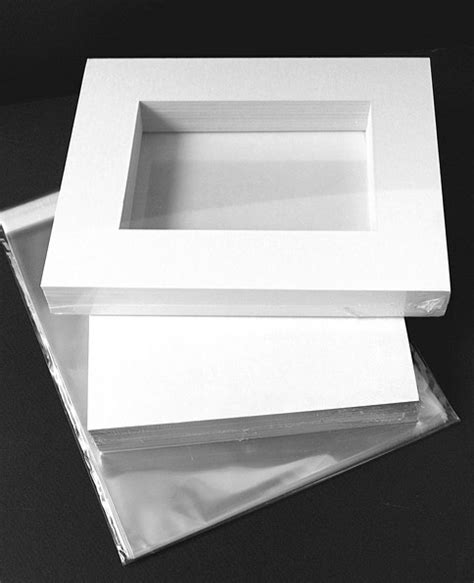 10 X 3 Framing Archival Mat - bottom weighted 6 ply 11x14 kit white archival mat