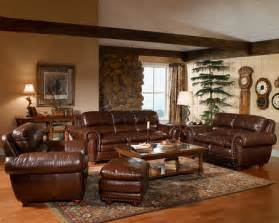 Living Room Ideas With Leather Furniture Living Room Decorating Ideas With Brown Leather