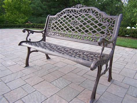 cast aluminum outdoor bench