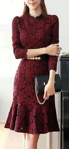 Dress Brukat Navy A sheath column sweetheart knee length lace of the dress 008085274 kebaya brokat