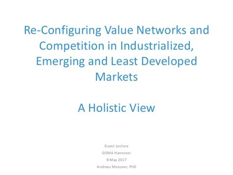 Competing In Emerging Markets re configuring value networks and competition in industrialized emer